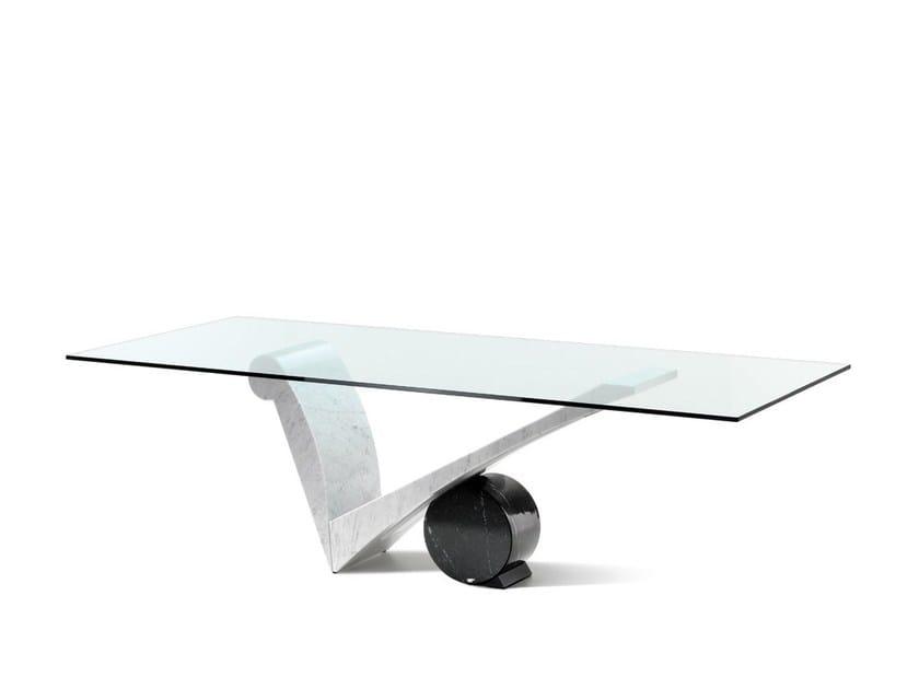 Rectangular crystal table VIOLA D'AMORE by Cattelan Italia