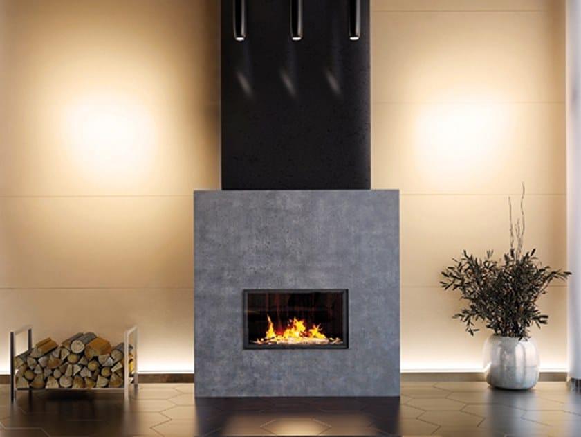 Wood-burning steel fireplace VIOLINO by RÜEGG