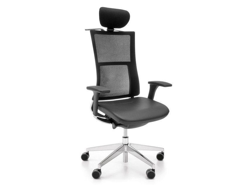 Executive chair with 5-spoke base with headrest VIOLLE 151SFL by profim