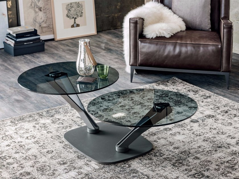 Low crystal coffee table VIPER by Cattelan Italia