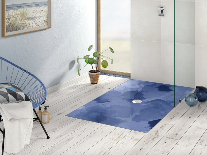 Rectangular ceramic shower tray VIPRINT – Inspired by Nature by Villeroy & Boch