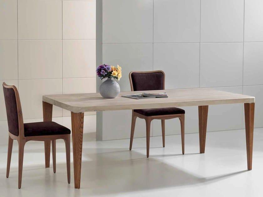 Rectangular travertine table VIRGILIO by International Marmi