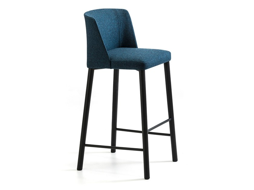 High fabric stool with back VIRGINIA ST-4WL by arrmet