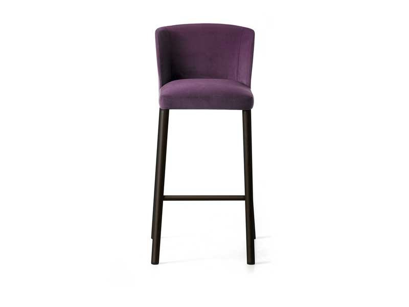 High stool with footrest VIRGINIA ST-4L | Upholstered stool by arrmet