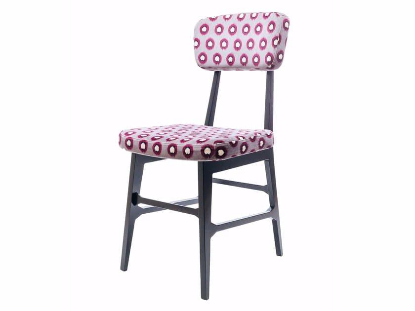 Upholstered aluminium chair VIRNA by altreforme