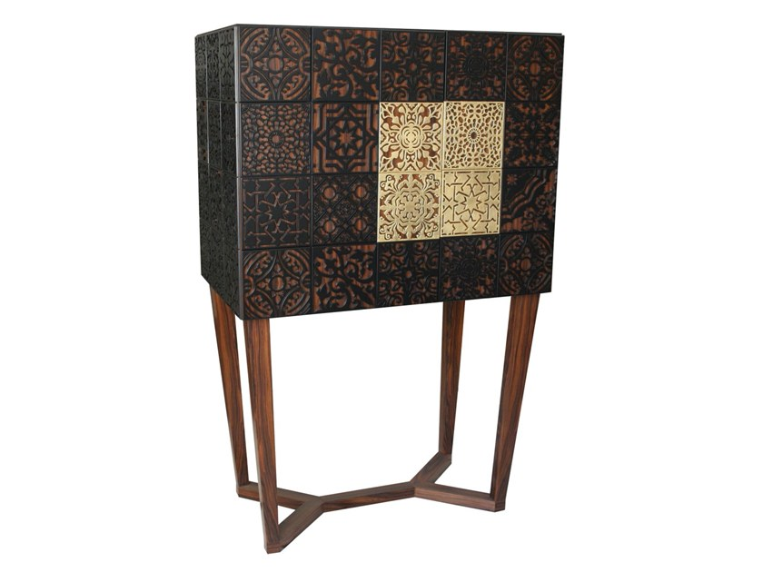 Lacquered wooden highboard with doors VIRTUOSO | Highboard by Malabar