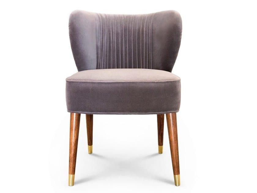 Upholstered velvet restaurant chair VISCONTI | Chair by Ottiu