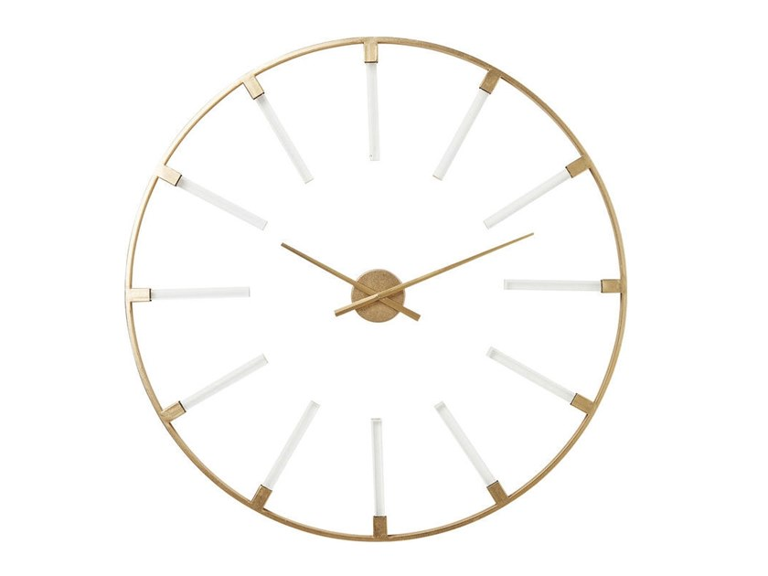 Wall-mounted powder coated steel clock VISIBLE STICKS   Clock by KARE-DESIGN
