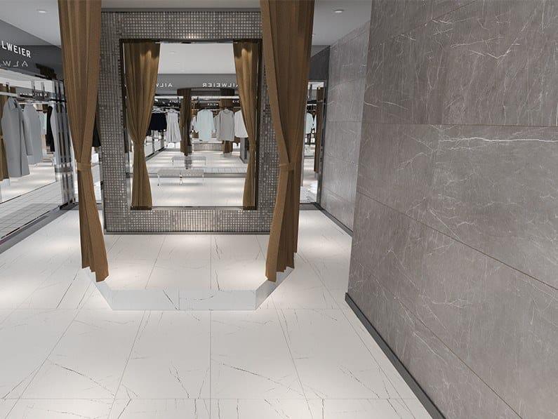 Pavimento/rivestimento in gres porcellanato effetto marmo VISION by ESTIMA CERAMICA