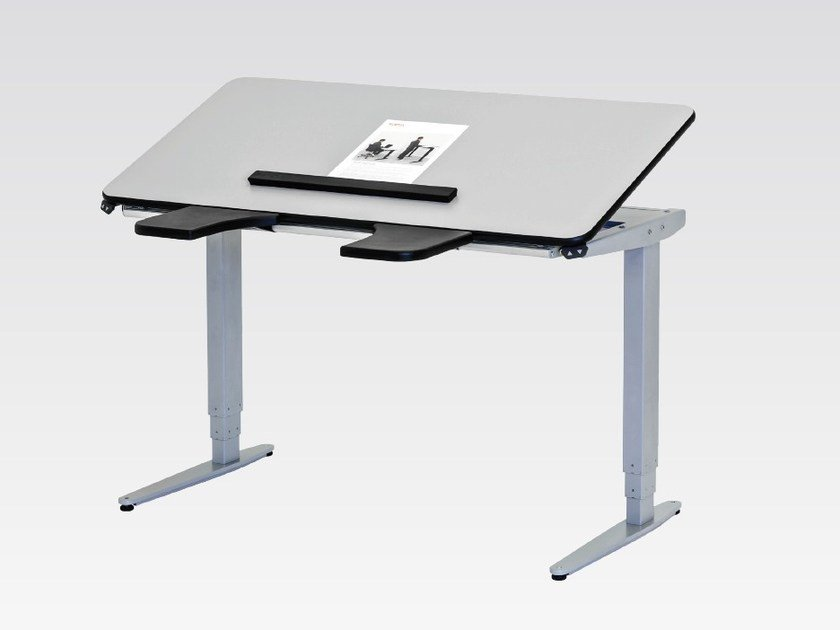 Height-adjustable writing desk with electric motion VISION HIGH / LOW by Ropox