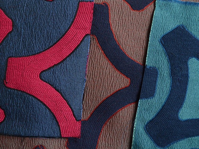 Jacquard fabric with graphic pattern VISION by l'Opificio