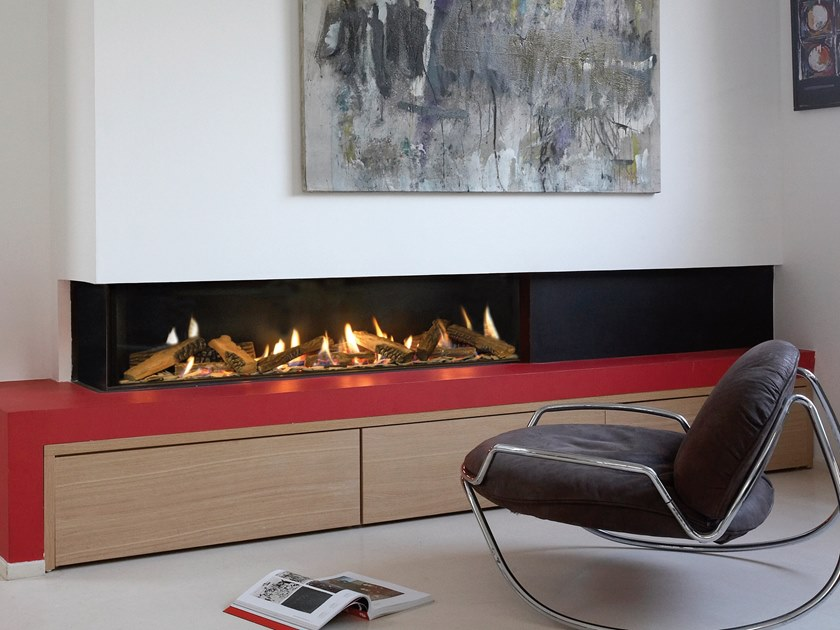 Gas built-in fireplace VISTA 170 by BRITISH FIRES