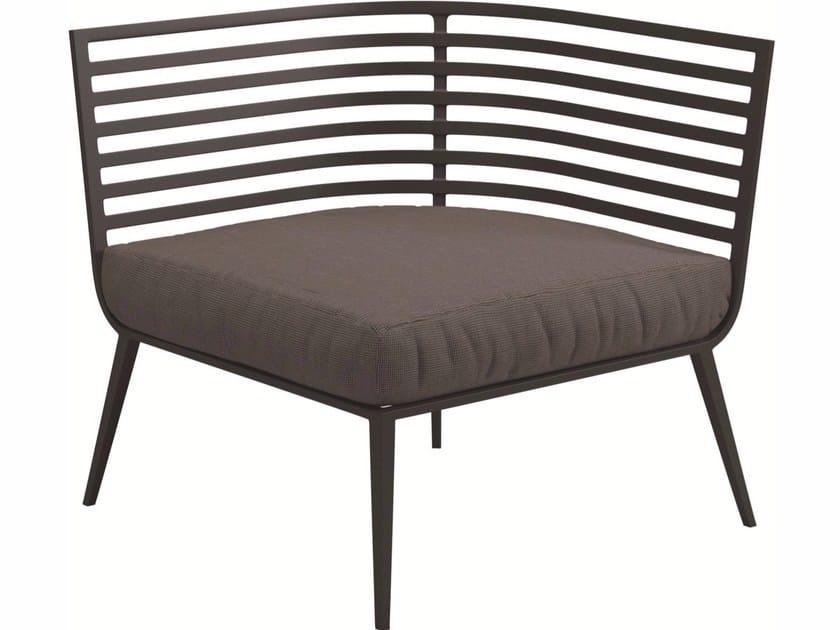 Corner upholstered garden armchair VISTA | Corner garden armchair by Gloster