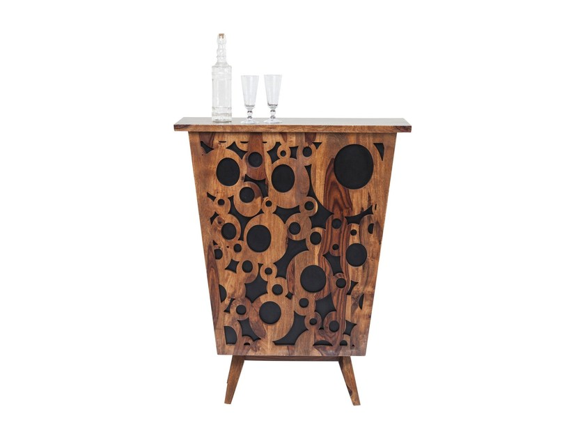 Lacquered wooden bar cabinet VISUAL DELIGHT by KARE-DESIGN