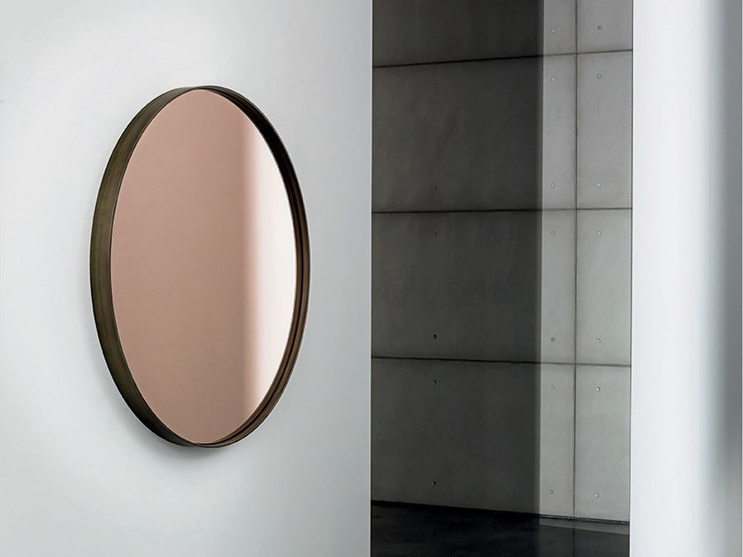 Round wall-mounted mirror VISUAL ROUND by Sovet italia