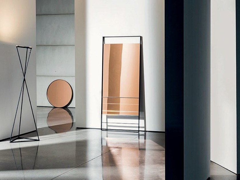 Rectangular wall-mounted mirror VISUAL by Sovet italia