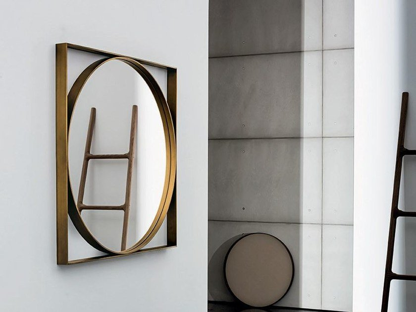 Square wall-mounted mirror VISUAL GEOMETRIC by Sovet italia