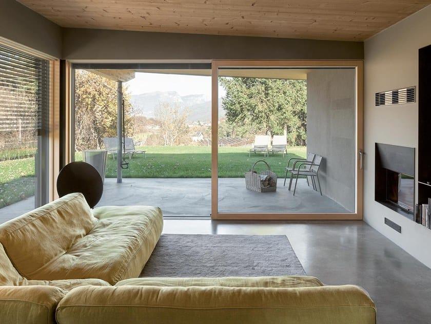 Aluminium and wood patio door VITA by Essepi