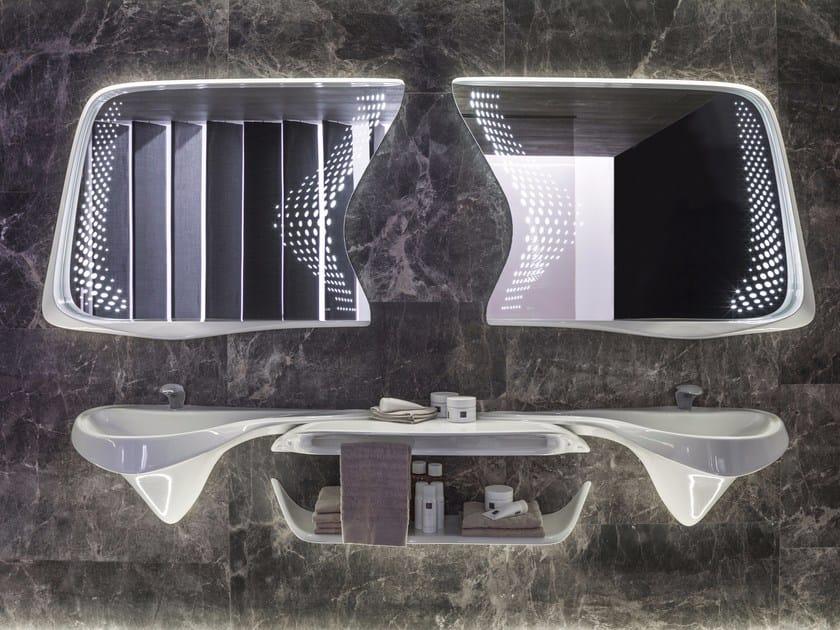 Lavabo doppio sospeso con piano VITAE | Lavabo doppio by Noken