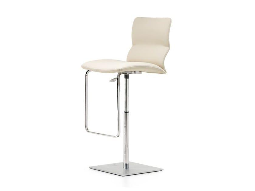 Swivel leather counter stool VITO by Cattelan Italia