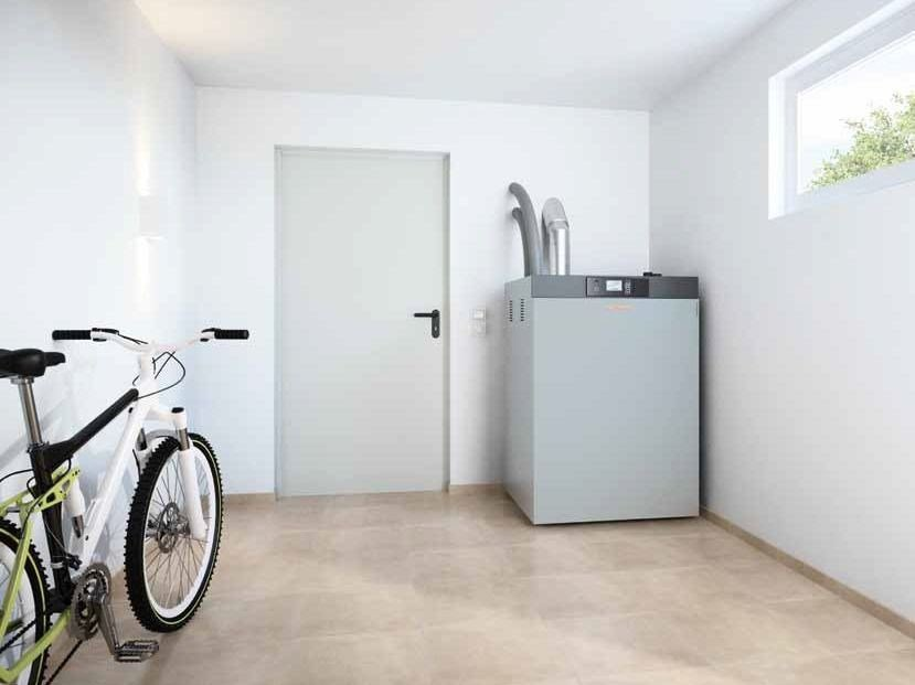Pellet floor-standing boiler VITOLIGNO 300-C by VIESSMANN