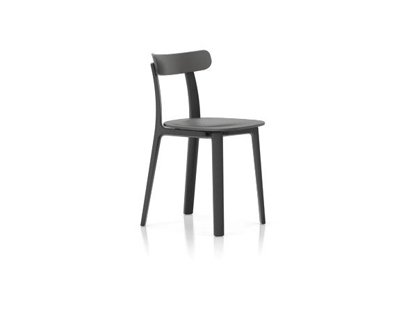 Polypropylene chair VITRA - ALL PLASTIC CHAIR Graphite grey by Archiproducts.com