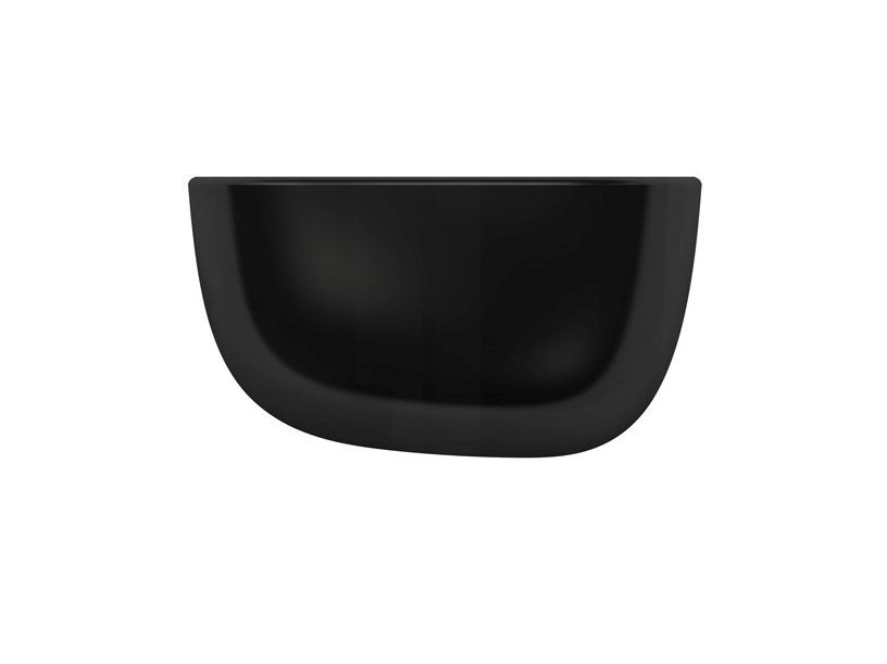 Synthetic material wall shelf VITRA - CORNICHES Small black by Archiproducts.com