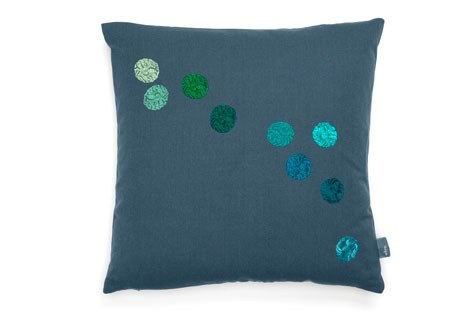 Cuscino quadrato in tessuto VITRA - DOT PILLOW Blue-Grey by Archiproducts.com
