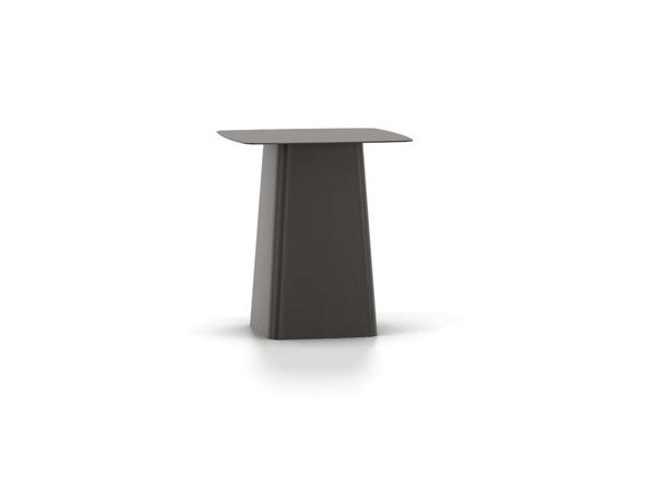 Square powder coated steel coffee table VITRA - METAL SIDE TABLE Medium chocolate by Archiproducts.com