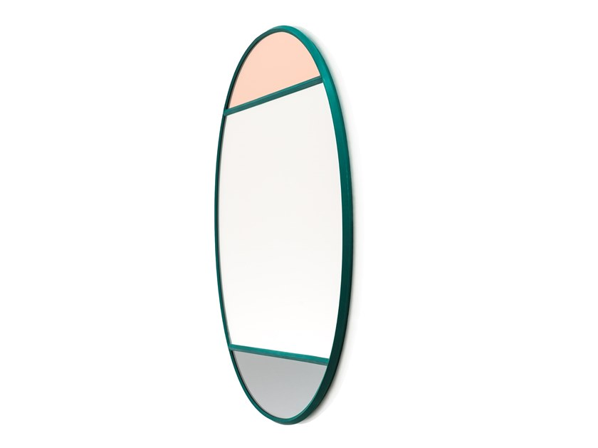 Oval wall-mounted framed mirror VITRAIL | Oval mirror by Magis