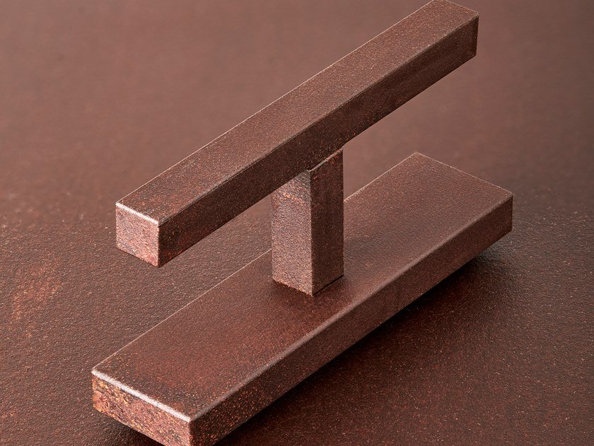 Corten™ door handle / window handle VITRUVIO QUADRA by SECCO SISTEMI