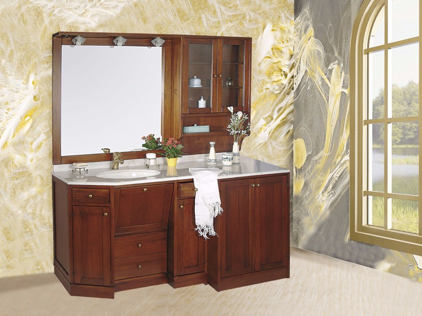 Vanity unit with doors with drawers with mirror VITTORIA CM01VT by LA BUSSOLA
