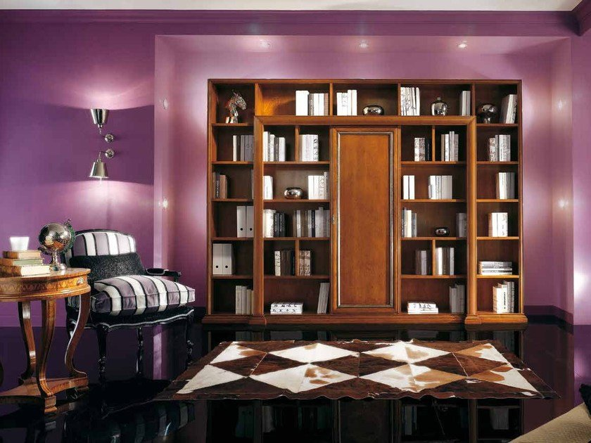 Open solid wood bookcase VIVRE LUX | Open bookcase by Arvestyle
