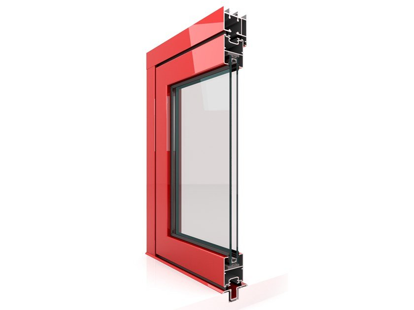 Aluminium folding window VL 450 by Twin Systems