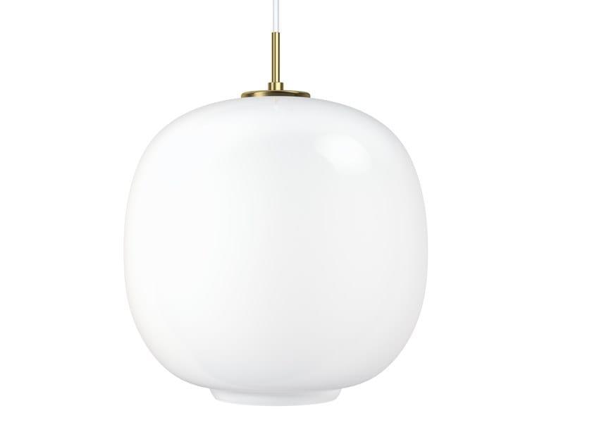 Direct light opal glass pendant lamp VL45 RADIOHUS by Louis Poulsen