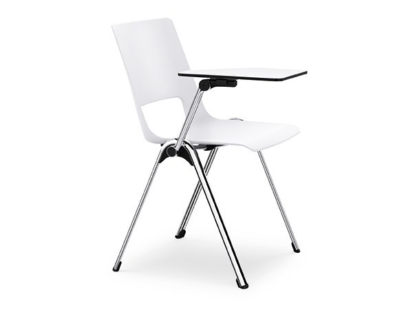 Stackable polyamide training chair with writing tablet VLEGS IS3 V100K by Interstuhl
