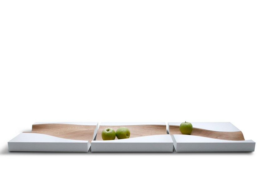 Rectangular oak tray VLOED by PER-USE