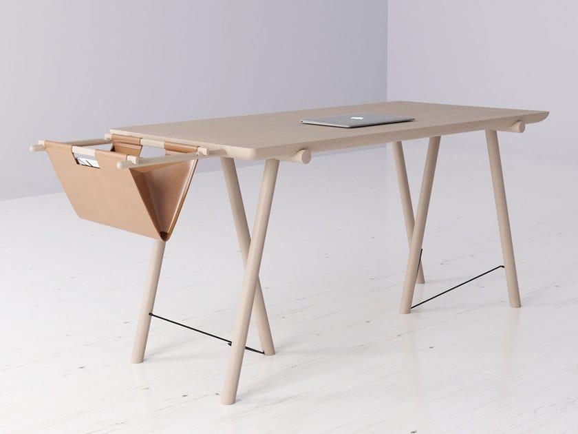 Rectangular ash writing desk VM | Writing desk by MZPA