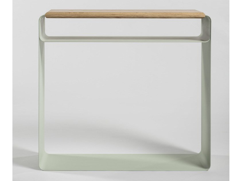 Lacquered rectangular plate console table VODO | Console table by Medulum