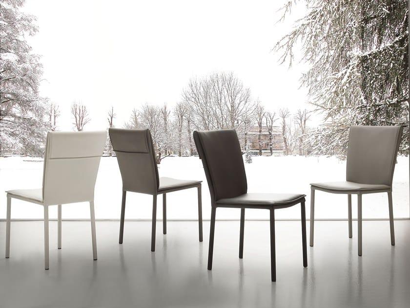 Eco-leather restaurant chair VOGUE by La seggiola