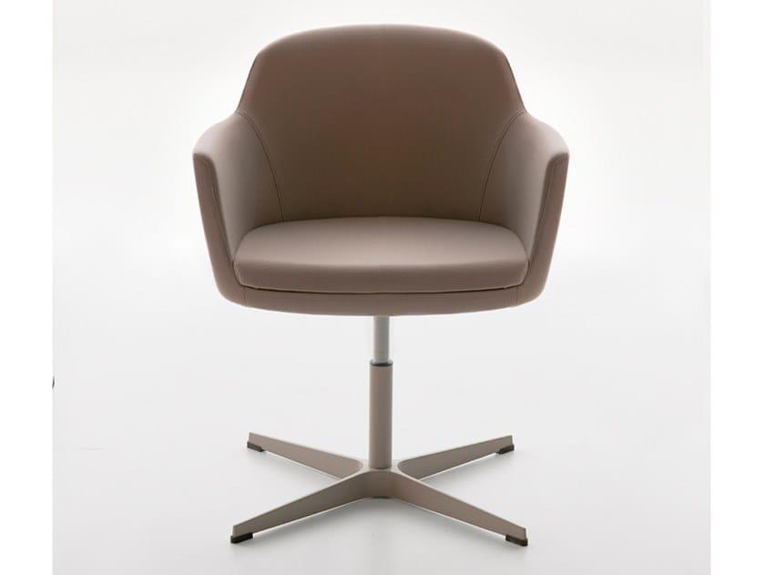Sedia ufficio girevole in pelle con braccioli VOGUE | Sedia ufficio in pelle by Manerba