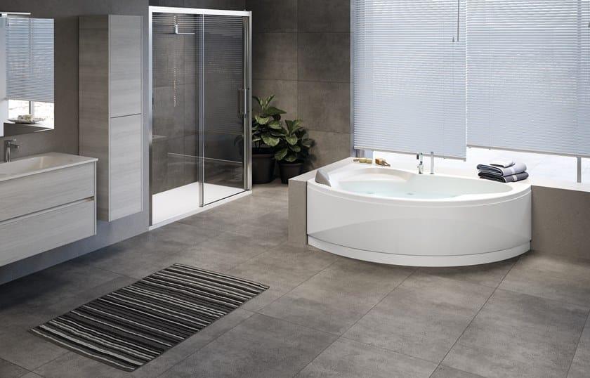 Vasca Da Bagno Angolare : Aquasoul corner vasca da bagno by jacuzzi design carlo urbinati