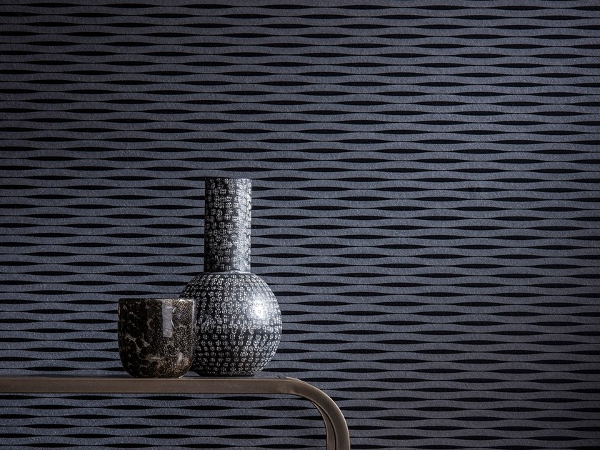 Nonwoven wallpaper VOGUE WAVE by Omexco