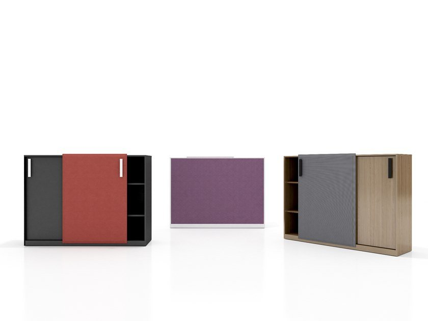 Lacquered modular office storage unit VOICEBOX by Tuna Ofis