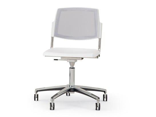 Sedia ufficio a 5 razze con ruote VOLÉE NET PLASTIC | Sedia con ruote by Diemmebi