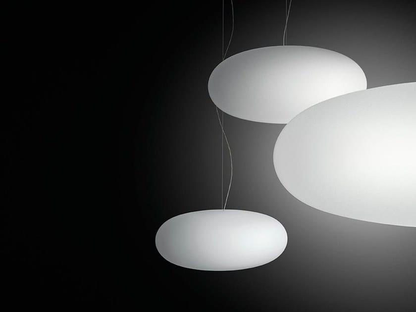 Blown glass pendant lamp VOL by Vibia