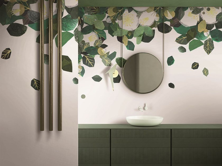 GlamFusion™ wallpaper with floral pattern VOLAGE by GLAMORA
