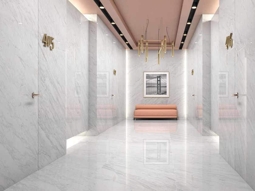 Sintered ceramic wall/floor tiles with marble effect VOLAKAS by ITT Ceramic