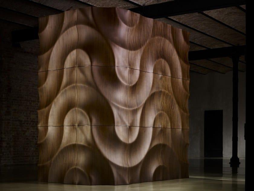 Modular wooden 3D Wall Panel VOLGA CORNER by MOKO