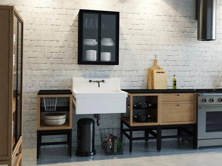 Modulo cucina freestanding in legno massello VOLITARE | mobile ...